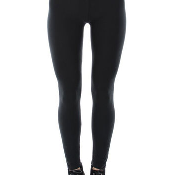 Full Length Knit Leggings - Thick