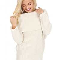 My Way Cable Knit Sweater in Cream | Monday Dress Boutique