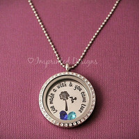 Floating Locket - Charm Locket - We made a wish and you came true - Mom Necklace