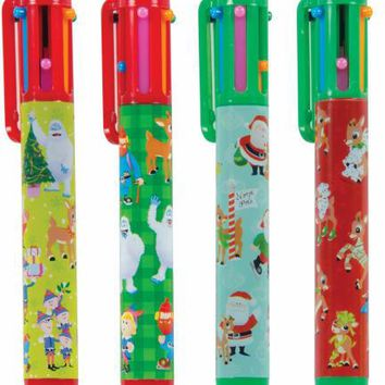 Rudolph The Red-Nosed Reindeer 6 Color Pen W/Stamper 12/Ds Case Pack 12