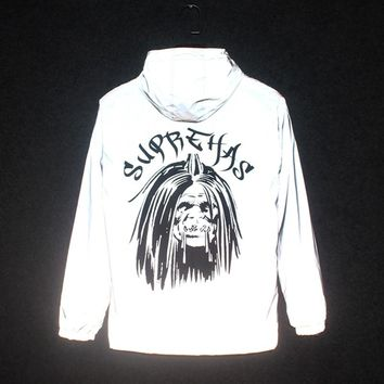 Jacket Feather Skulls Ghost Windbreaker Men Thick Hooded Outwear