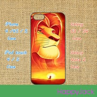 The Lion King - iPhone 5 case, iphone 4 case , ipod touch 5 / 4 case, samsung galaxy S3 , samsung galaxy S4 , samsung galaxy note 2 case