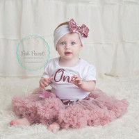 first birthday outfit, second birthday outfit, dusty rose birthday outfit, birthday girl outfit, glitter gold one, girl 3rd birthday outfit