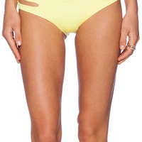 L*SPACE Estella Bikini Bottom in Yellow