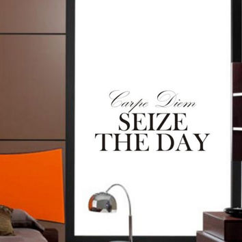 Carpe Diem Seize the Day Inspirational Quote Decal Sticker Wall Vinyl Decor Art