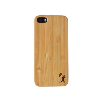 Flag Man Bamboo Case (iPhone 5/5S)