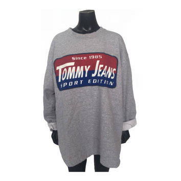 Vintage 90s Tommy Hilfiger Jeans Sport Edition Graphic Pullover Sweatshirt