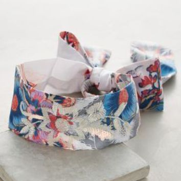 Panaino Tie-Back Turban Band by Anthropologie in Blue Size: One Size Hair