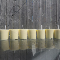light yellow gardenia soy votive, vegan votives, handpoured candles