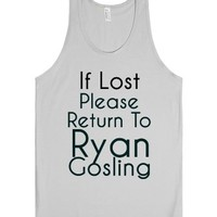 If Lost Return To Ryan Gosling-Unisex Silver Tank
