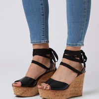WISE Ankle-Tie Wedge