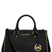 Women's MICHAEL Michael Kors 'Medium Sutton' Saffiano Leather Satchel