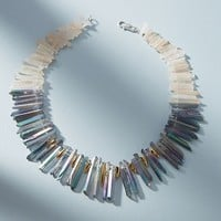 Rainbow Quartz Bib Necklace