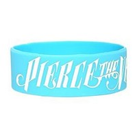 Pierce The Veil Logo Light Blue Rubber Bracelet - 159956