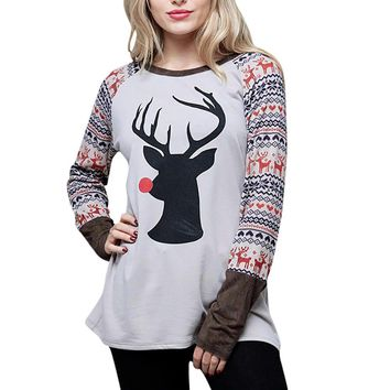 Rudolph the Red Nose Reindeer Long Sleeve Christmas Shirt
