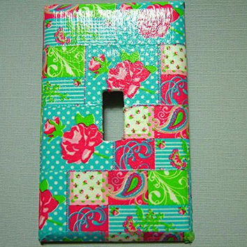 Floral Light Switch Plate Cover