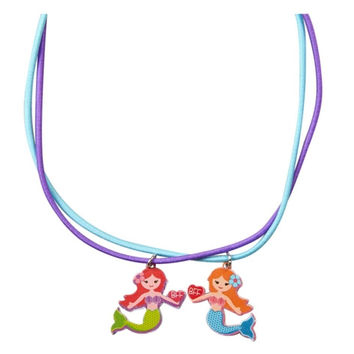 Justice Girl's MERMAID BFF Stretch Cord Necklaces NWT