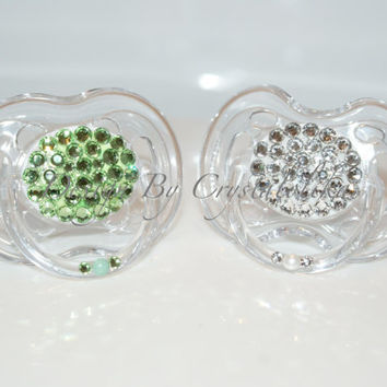 Baby Bling Pacifier  made with Swarovski Crystal (Avent  Philips) By Crystalolika