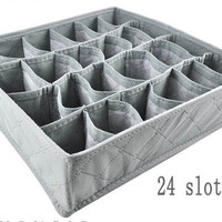 Organizer Drawer Box, 24 Slots, Socks, Underwear,  Etc/