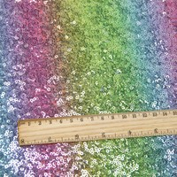 David accessories 50*125cm rainbow sequins fabric for Tissue Kids home textile for Sewing Tilda Doll,c2158