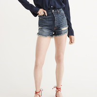 Womens Step-Hem High-Rise Shorts | Womens Bottoms | Abercrombie.com
