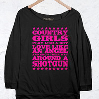 Juniors Country Girls™™ Terry Raglan Pullover - Shotgun