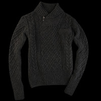 UNIONMADE - Levi's Vintage Clothing - 1930s Shawl Collar Sweater in Dark Grey Mele