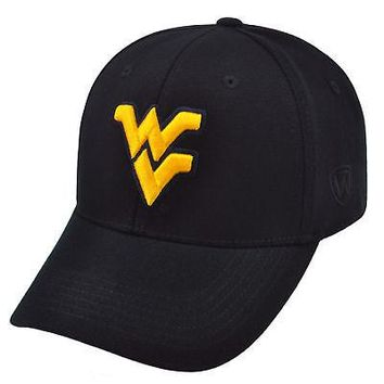 Licensed West Virginia Mountaineers Official NCAA One Fit Wool Hat Cap by TOW 354002 KO_19_1