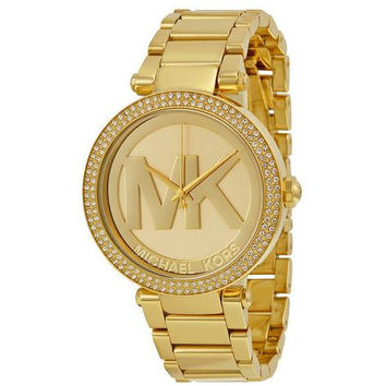 Michael Kors Women's Parker Gold-Tone Stainless Steel Bracelet Watch 39mm MK5784
