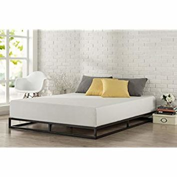 Zinus Modern Studio 6 Inch Platforma Low Profile Bed Frame, Mattress Foundation, Boxspring Optional, Wood slat support, Full
