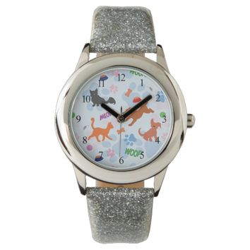 Puppies and Kittens Wrist Watch