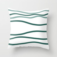 sea is blue Throw Pillow by Ia Po