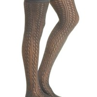Pointelle Thigh High Sock by Charlotte Russe