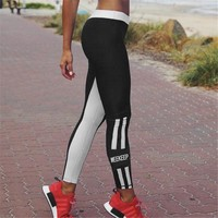 Thicken Hot Sale Women's Fashion Print Yoga Sports Leggings [10831642823]