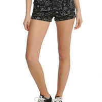 Blackheart Science Print V-Stitch Shorts