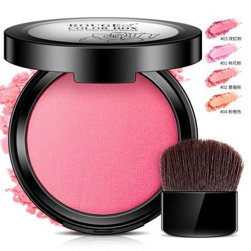Professional Blush Face Makeup Cheek 4Colors Makeup Blush Bronzers Blusher With Brush Face Makeup Blush Powder Maquiagem