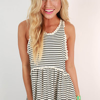 Fashion Queen Stripe Tank Top in White