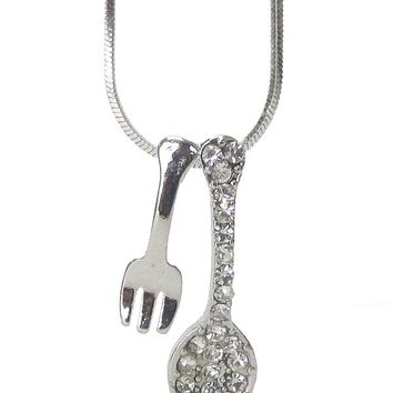 Sspoon fork pendant necklace