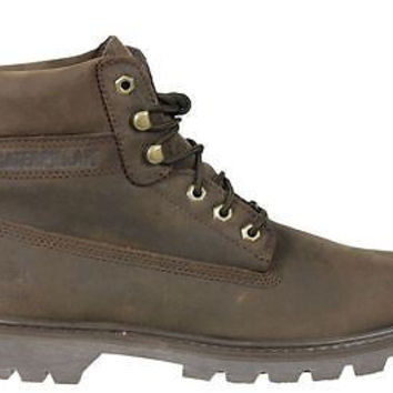 "Caterpillar Mens 6"" Soft Toe Boots Watershed WaterPoof Brown P717963"
