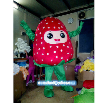 Strawberry Fruit Mascot Costume, Cosplay Costumes,Costumes for Adults,Party Costume, Costume for Opening Ceremony,Halloween Costume,Clothing