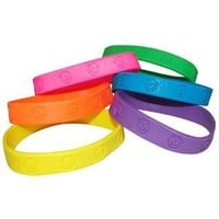 Fun Express Party Favors 24 -Rubber Neon Monkey Bracelets
