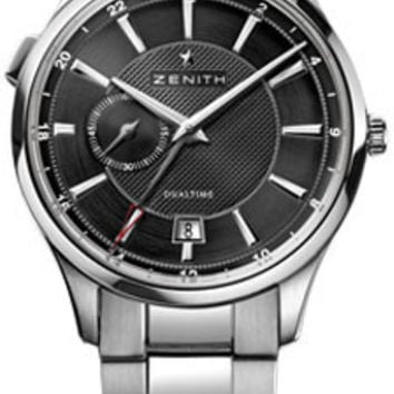 Zenith - Elite Captain Dual Time Stainless Steel #03.2130.682/22.M2130