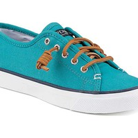 Sperry Top-Sider Women's Seacoast Canvas Sneaker in Teal STS95525