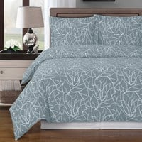 Ema Gray Duvet Cover 100% Combed cotton