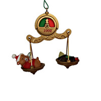 Hamster on Scale Ornament Hallmark Keepsake