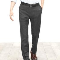 Banana Republic Mens Modern Slim Gray Wool Dress Pant