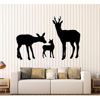 Wall Vinyl Decal Deer Happy Family Animals Nature Home Interior Decor Unique Gift z4074