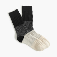 J.Crew Womens Colorblock Ribbed Socks
