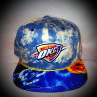 Acid Wash Denim OKC Thunder Snapback