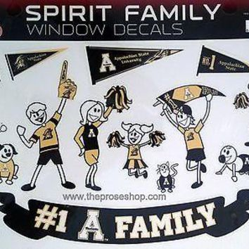 Appalachian State Mountaineers Family Spirit LARGE Window Decal University of